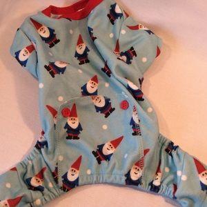 Dog Christmas pajamas size small.
